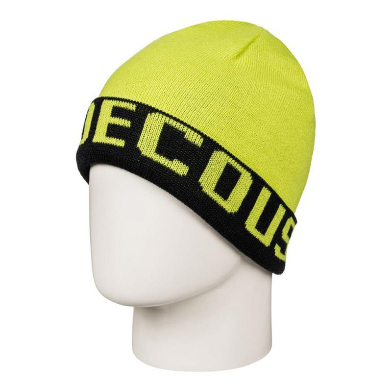 dc Bromont Reversible Cuff Beanie front view youth toques yellow edbha03014-gha0