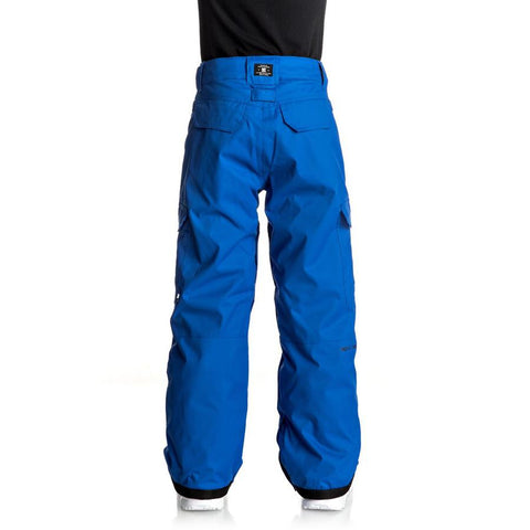 dc Banshee Snow Pants boys 8-1 back view youth snowboard pants blue edbtp03006-bqr0