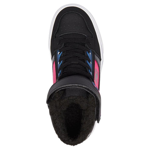 dc Spartan High WNT EV High Top Shoes top view kids winter boots black/pink adgs300274-bbp