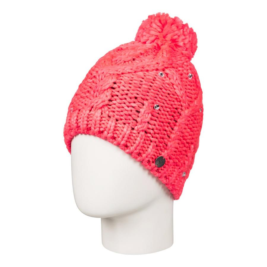 roxy Shooting Star Banie girls side view youth toques coral ergha03034-nkn0