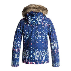 roxy American Pie Girls Jacket back view youth snowboard jacket navy/pink ergtj03037-byb7