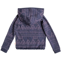 roxy Make Me Swim Zip Up Hoodie back view Girls Hoodies navy/pink erlft03122-bpt6