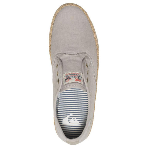quicksilver Shorebreak Deluxe Laceable Slip On Shoes top view Mens Slip On Shoes gray aqys300054-tkd0