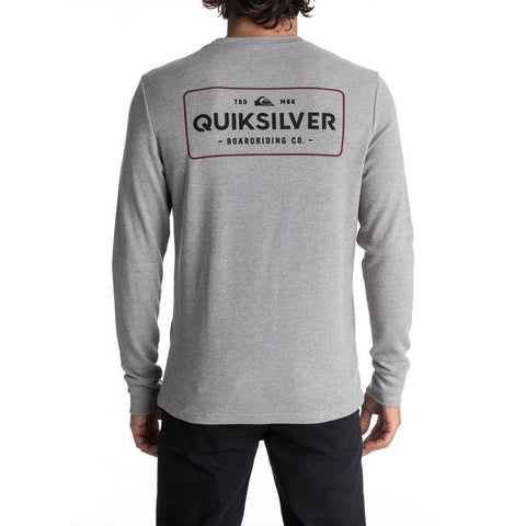 quicksilver Detention Long Sleeve Thermal back view Mens T-Shirts Long Sleeve heather gray aqyzt05050-kpwh