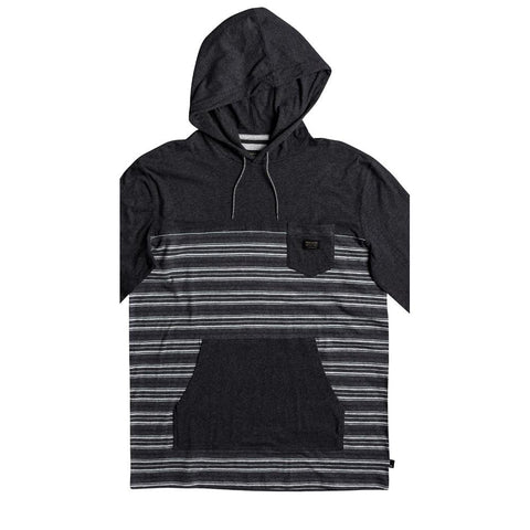 quicksilver Full Tide Hoody front view Mens Pullover Hoodies dark grey eqykt03665-kyh3