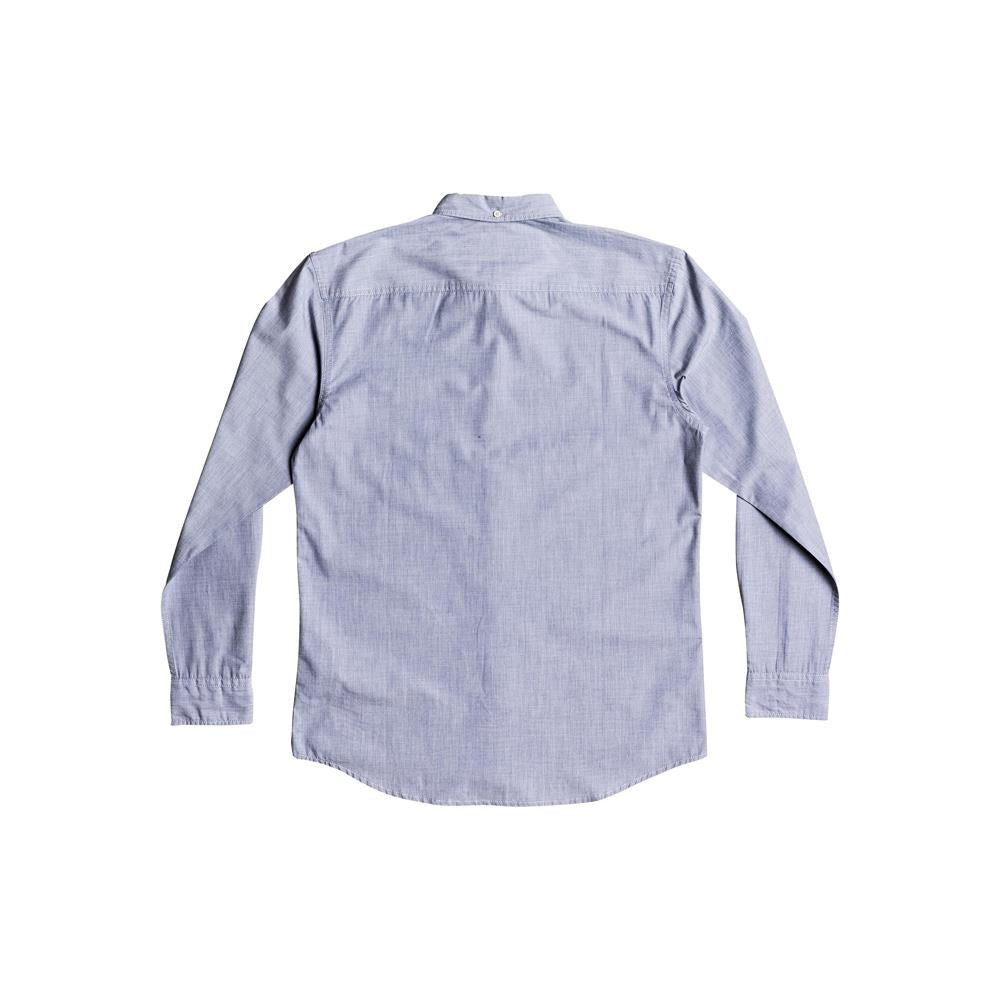 quicksilver Wilsden LS back view  Mens Button Up Long Sleeve Shirts light green eqywt03378-gph0
