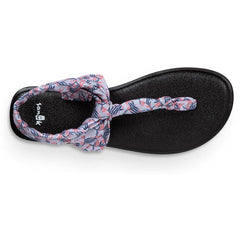 sanuk Yoga Sling Ella Prints top view Womens Fashion Sandals grey print 1091534-gppl
