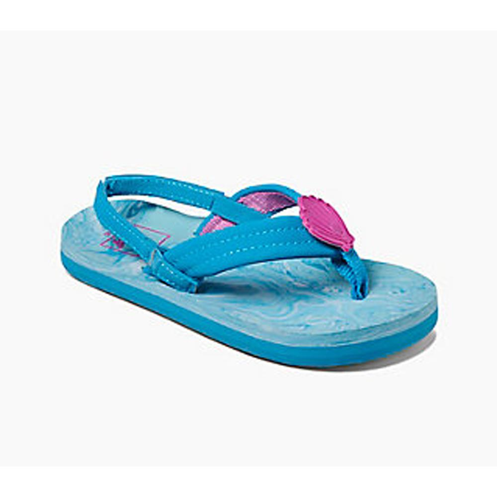 reef Little Ahi Swirl side view Kids Sandals blue rf0a3fdv-sll