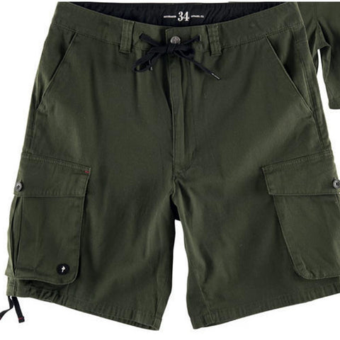 rds Cargo Signal Shorts front and back view Mens Shorts olive rd8149-oli