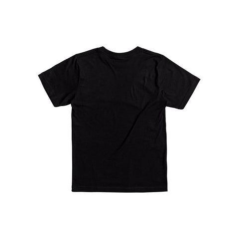 quicksilver Vert Times B Tees back view Boys Short Sleeve T-Shirts black aqbzt03288-kvj0