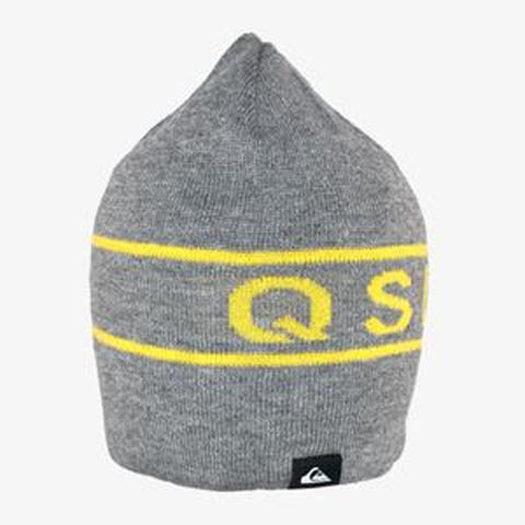 quicksilver Knox Beanie overall view Youth Toques gray eqbha03018-kpgh