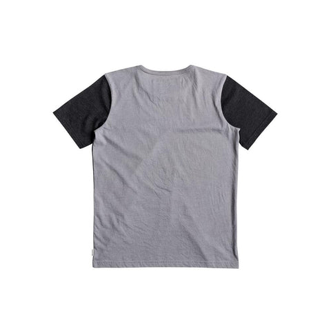 quicksilver Pogwa Youth Tee back view Boys Short Sleeve Shirts grey/black eqbkt03158-szp0