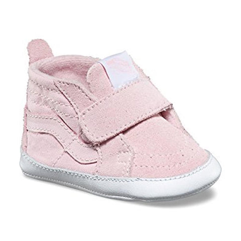 vans Infants Sk8-Hi Crib side view Infant Shoes pinkvn0a346pq1c