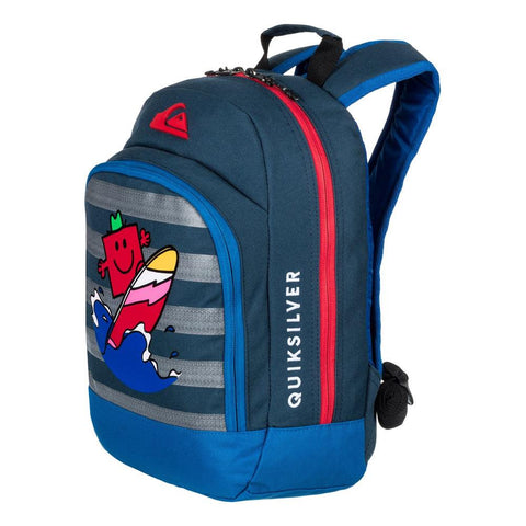 quicksilver Mr Strong Chompine side view School Backpack blue eqkbp03003-brq0