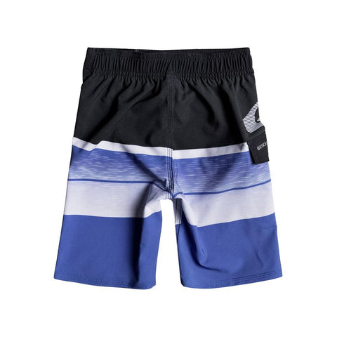 "quicksilver Slab Logo Boys 14"" back view Boys Board Shorts blue/black eqkbs03133-bpb6"
