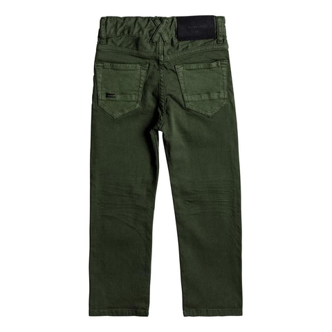 quicksilve Disortion Color Pant back view Boys Jeans green eqkdp03069-gsq0