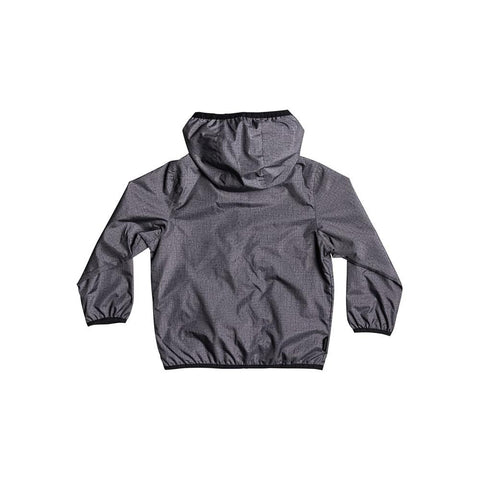 quicksilver Everyday Jacket back view Boys Windbreakers dark grey eqkjk03080-ktfh