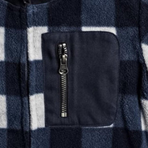 quicksilver Turbo Speed Zipped Fleece close-up view Boys Sweaters navy/grey eqkpf03010-byj0