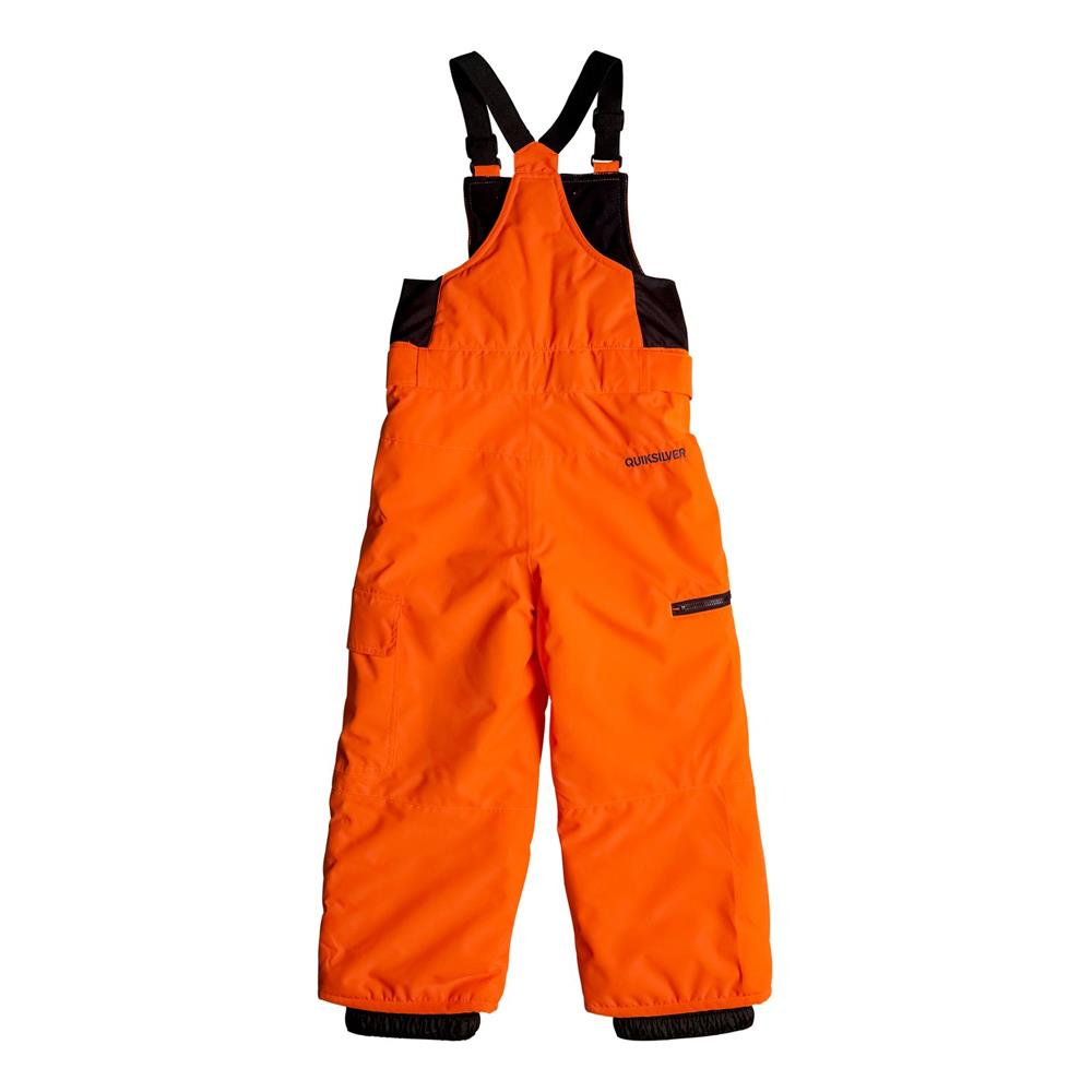 quicksilver Boogie Kids Bib front view Boys Snowboard Pants orange eqktp03002-nkr0