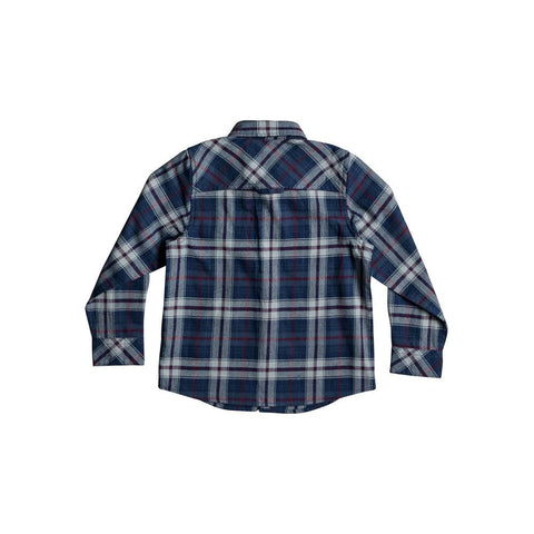 quicksilver Fitzspeere L/S Shirt back view Boys Button Up Long Sleeve Shirts blue multi eqkwt03135-bsw1