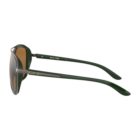 oakley Split Time Prizm Polaized side view Mens Polarized Sunglasses bronze polarized black oo4129-0858