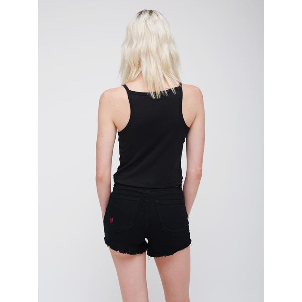 obey Ava Copped Tank back view Womens Tank Tops black 266831266-blk