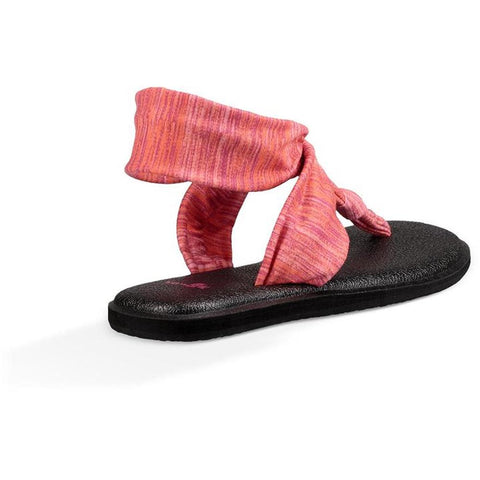 sanuk Yoga Sling Ella Prints back view Womens Fashion Sandals pink 1020241-csdy