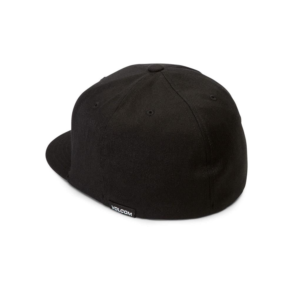 D5521806-SPK, Volcom, Black/Red, Stone Stack Jfit Hat