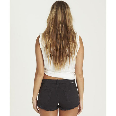 j226jlit-bhz billabong lie hearted womens jean shorts black denim
