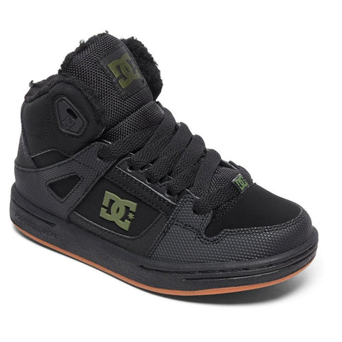 adbs100245-xkkg dc boys pure winter high top kids winter boots black