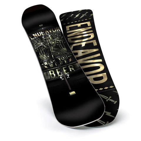 e17ktv-mlt-154 endeavor ktv series all mountain snowboards black/gold