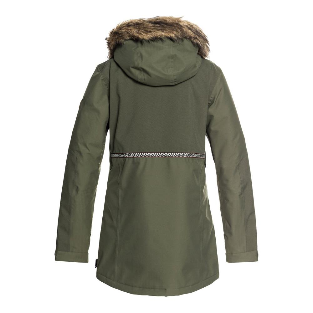 edjtj0303-gqm0 dc panoramic jacket womens womens insulated jackets green