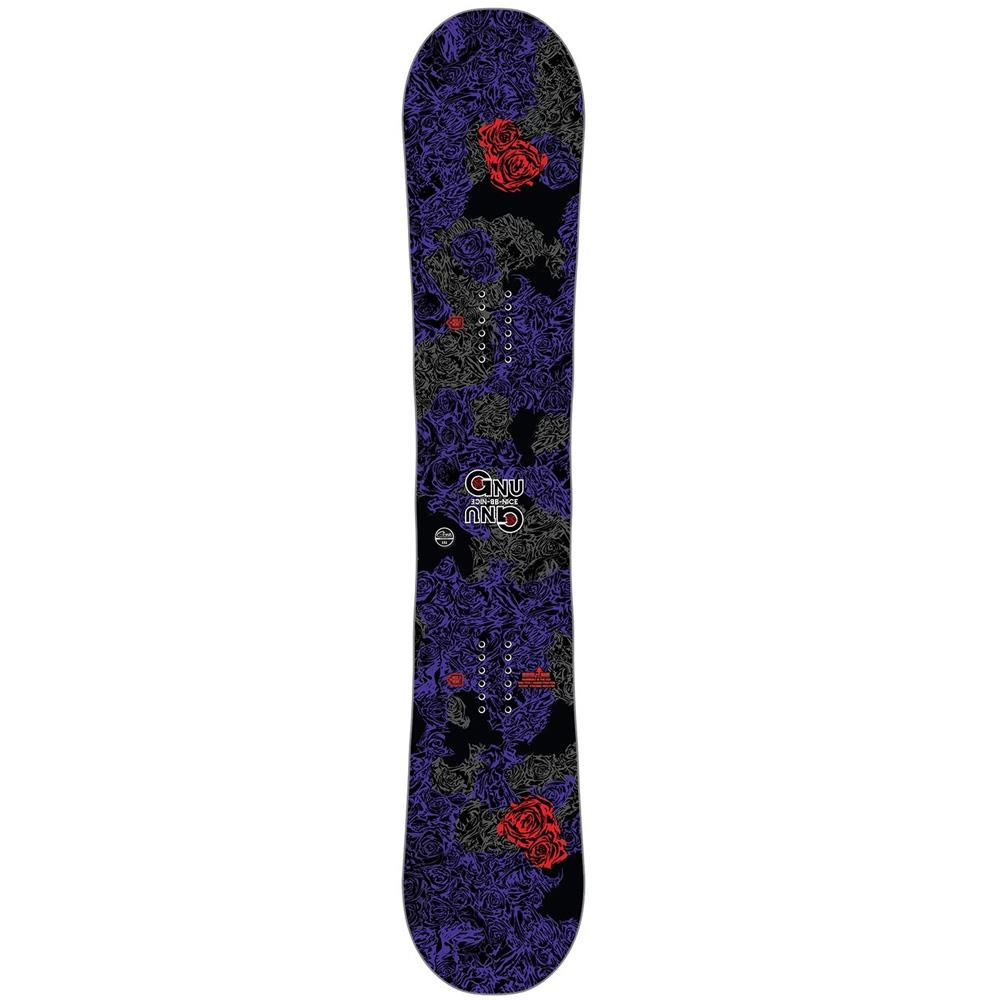 18sn013-dark gnu a sym b-nice bxt womens freestyle snowboards purple/black
