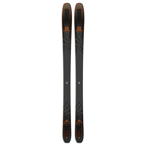 l40524300169 salomon qst 92 uniserx skis black/orange