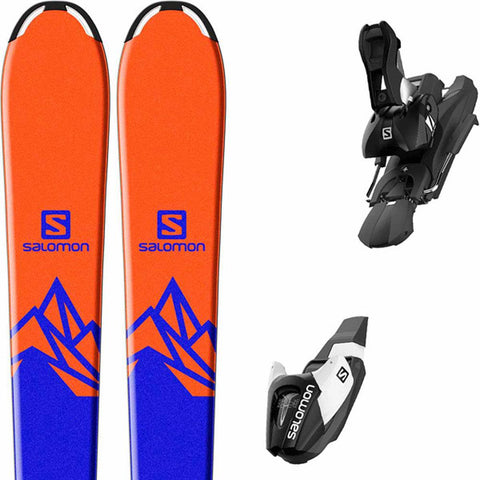 l39959800130 salomon set qst max jr m+e l7 b8 close-up view youth boys package blue/orange