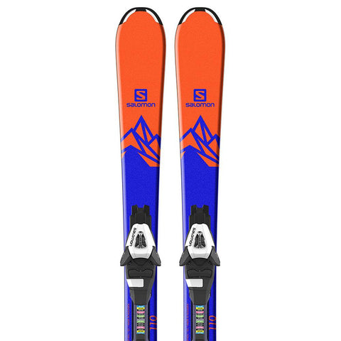 l39959900100 salomon set e qst max jr 2+3 c5 j7 close-up view youth boys package blue/orange