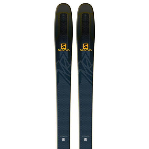 l4052400174 salomon n qst 99 close-up view unisex skis black