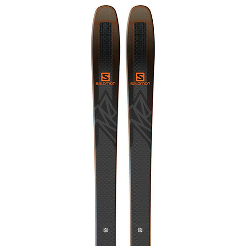 l40524300177 salomon n qst 92 top view unisex skis black/orange