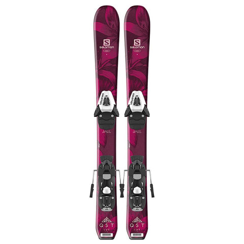l40544700080 salomon set h lux jr xs+c5 sr top view youth girls package black/red
