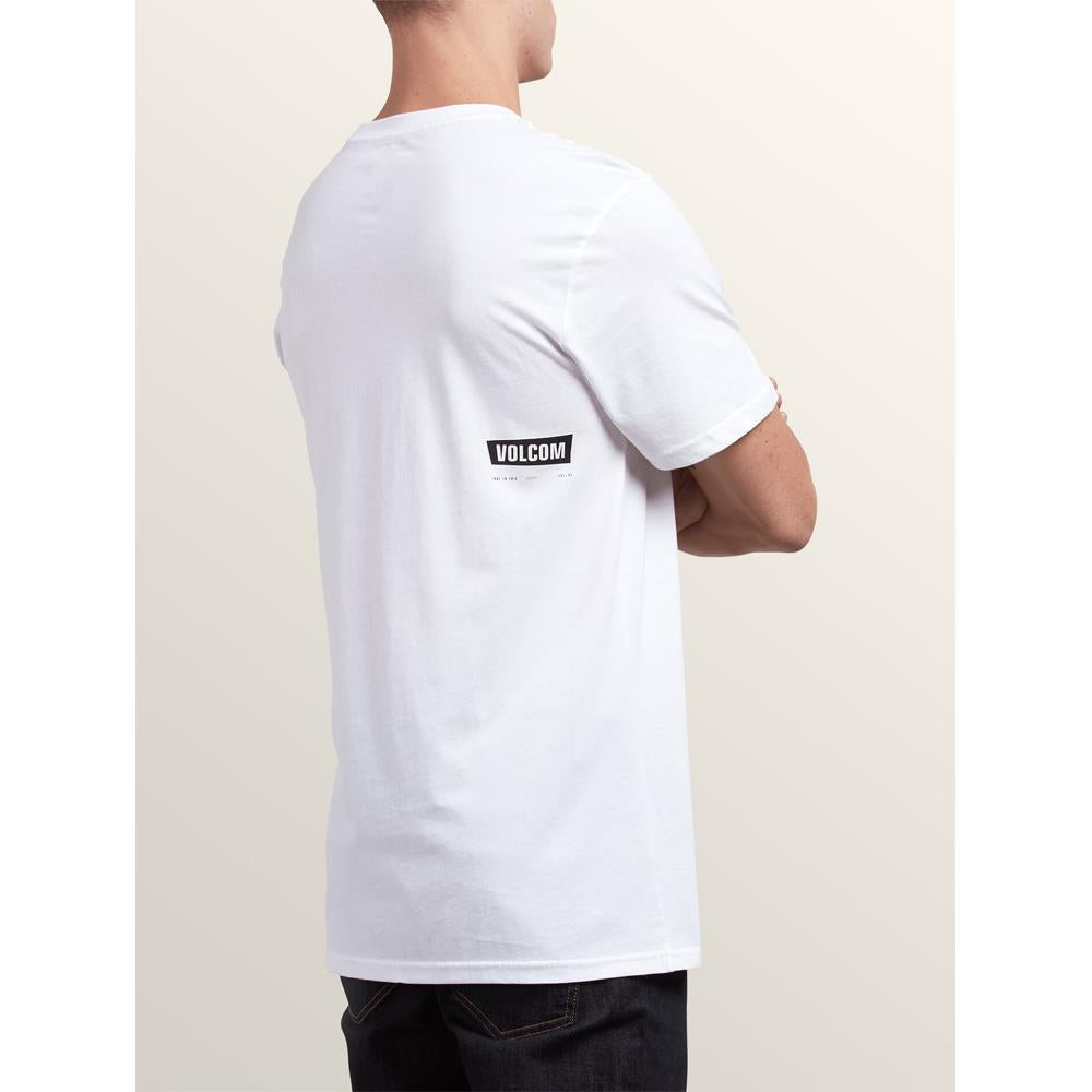 a5031810-whit volcom deadle stone s/s tee side view mens t-shirts slim fit white