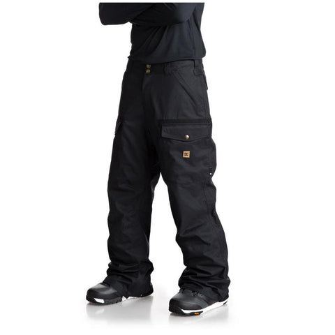 edytp03035-gzf0 dc code snow pant side view mens snowpants dark green
