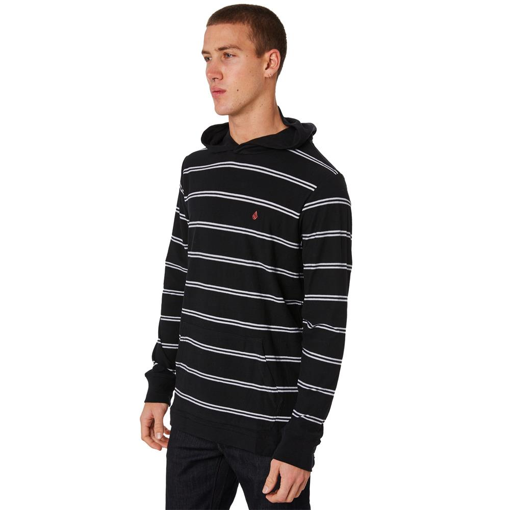 a0331804-blk volcom randall l/s hooded side view mens pullover hoodies black