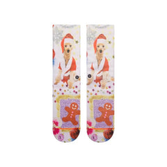w525d18mrs.wht stance mrs paws top view womens socks white multi