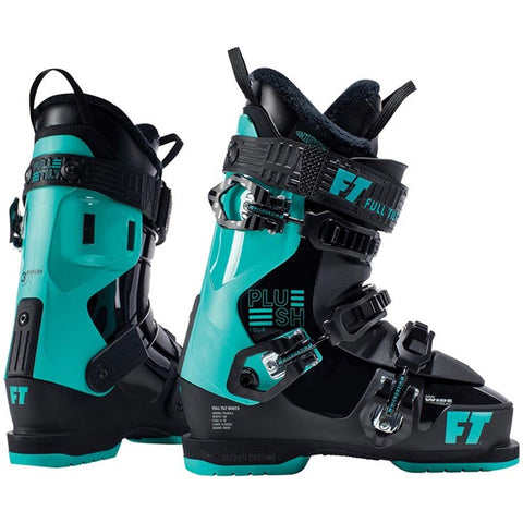 j181601401235 full tilt plush 4 side and back view womens boots turquoise