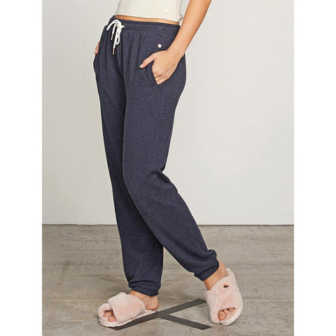 volcom lil fleece pant side view womens lounge pants pink
