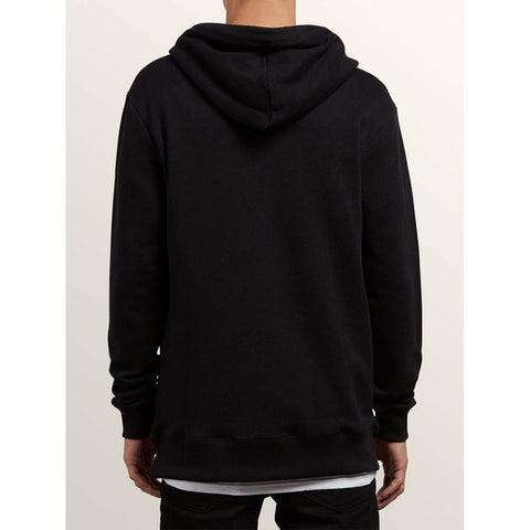 volcom index p/o back view mens pullover hoodies black