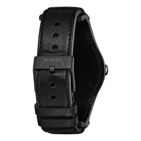 nixon sentry leather metallica back view mens leather bands black