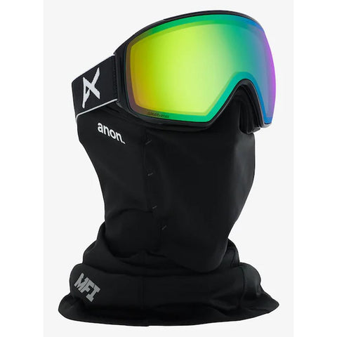 20355100040, ANON, MENS M4 TORIC GOGGLES, WITH SPARE LENS, MFI FACE MASK, BLACK/SONARGREEN, WINTER 2020