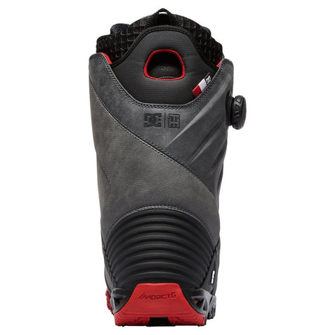 dc torstein back view Mens Boa Boots grey/red