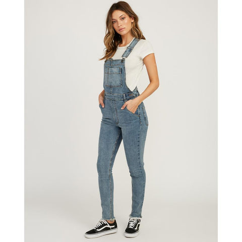 rva foss overall side view Womens Skinny Jeans denim